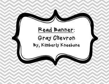 READ Banner Pennant - Gray Chevron