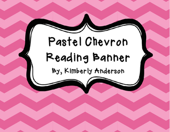 READING Banner Pennant - Pastel Chevron