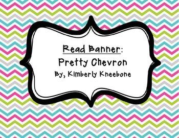 READ Banner Pennant - Pretty Chevron