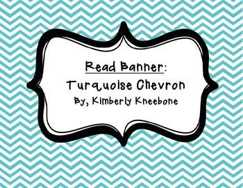 READ Banner Pennant - Turquoise Chevron