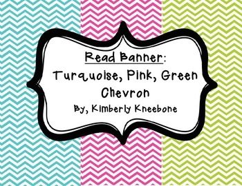 READ Banner Pennant - Turquoise, Pink, and Green Chevron
