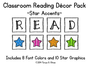 READ Classroom Decor with Star Accent Pics