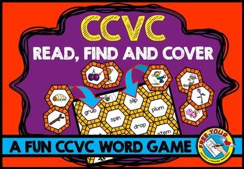 CCVC ACTIVITIES: BEE THEMED CCVC WORDS GAME:  PHONICS READ