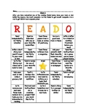 READ-O Literacy BINGO Game Homework