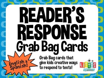 READER'S RESPONSE Grab Bag Cards - English & Spanish