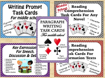 READING AND WRITING TASK CARD BUNDLE