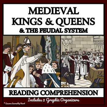 READING COMPREHENSION BUNDLE - MEDIEVAL KINGS AND QUEENS