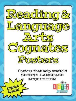 READING & LANGUAGE ARTS COGNATES Poster FREEBIE!!!