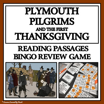 READING PASSAGES AND BINGO - Plymouth Pilgrims and the Fir