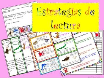 READING STRATEGIES SPANISH TRACKER POSTERS BOOKMARKS ESTRA