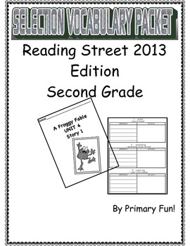 READING STREET (2013 EDITION) - UNIT 4 - SELECTION WORD PA