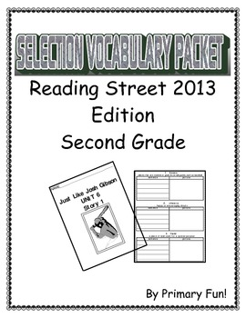 READING STREET (2013 EDITION) - UNIT 6 - SELECTION WORD PA