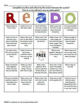 READO Bundle: Literacy and Reading bingo style game for at