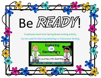 READY! Interactive Writing Activity