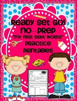 SIGHT WORDS - VOL. 1 { NO PREP } PRINTABLES