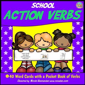 Verbs - Ready, Set, Go! School Action Verb Cards