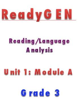 READYGEN Gr 3 Unit 1A Reading Lesson Plans DIFFERENTIATION