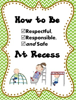 RECESS Rules Social Book: Be Respectful, Responsible, Safe