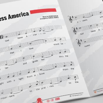 RECORDER SHEET MUSIC: God Bless America by Irving Berlin [