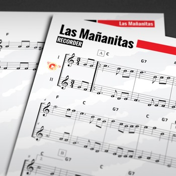 RECORDER SHEET MUSIC: Las Mañanitas w/ Performance Trax