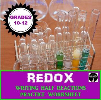 REDOX: Writing Half Reactions Practice Worksheet