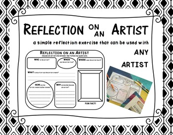 REFLECTION on an ARTIST  a simple exercise that can be use