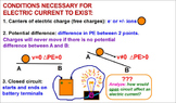 PHYSICS ELECTRICITY: Electric Current, Voltage, Ohm's Law.