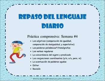 REPASO DEL LENGUAJE DIARIO - Semana #4