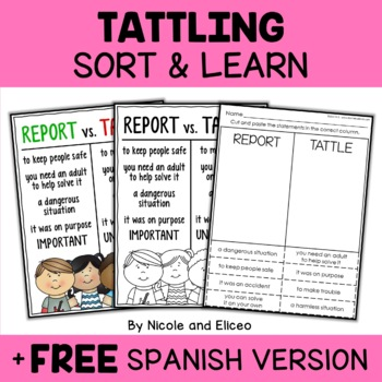 Tattling Classroom Management Sort