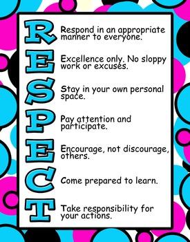 RESPECT poster- circles
