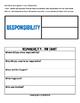 RESPONSIBILITY CHARACTER - ORIGINAL POEM/GRAPHIC ORGANIZER