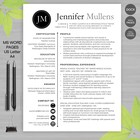 TEACHER RESUME Template For MS Word | + Educator Resume Writing Guide JEN_BLK