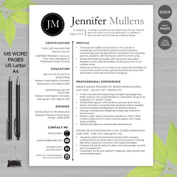 resume template for ms word by wfo creative
