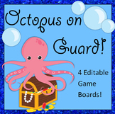 REVIEW GAME! Octopus on Guard totally EDITABLE SET!