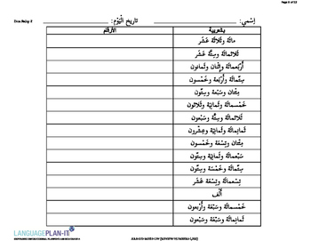 REVIEWING NUMBERS -1,000 (ARABIC 2015 EDITION)