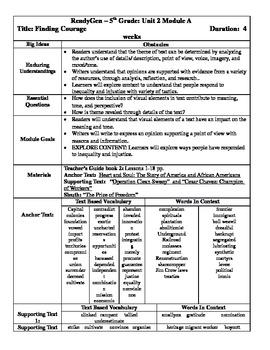 REady Gen Fifth Grade Unit 2 Module A Overview