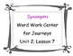 RF. 3.3 Word Work Hands-on SYNONYMS Literacy Center for Da