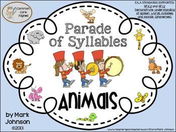 RF.K.2 and RF.1.2  Parade of Syllables {Determining Syllab