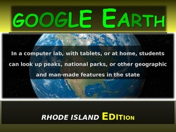 """""""RHODE ISLAND"""" GOOGLE EARTH Engaging Geography Assignment"""