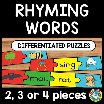 RHYMING ACTIVITIES: RHYMING WORDS CENTER: DIFFERENTIATED R