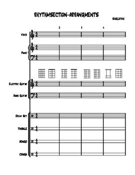 RHYTHM SECTION, PIANO,DRUMS, BASS GUITAR& GUITAR