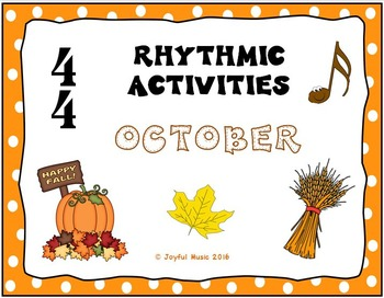 RHYTHMIC ACTIVITIES October Resources