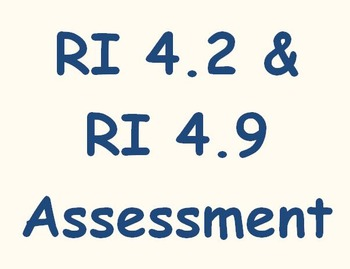 RI 4.2 and RI 4.9 Assessment