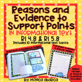 RI 4.8/ RI4.8 & RI 5.8/ RI5.8 Reasons & Evidence to Suppor