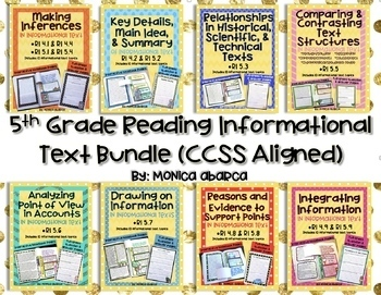 RI 5.1 - RI 5.9 Reading lnformational Text Bundle (5th Gra