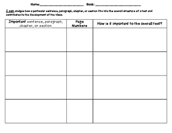 RI.6.5 Graphic Organizer