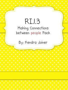 RI.1.3 First Grade Common Core:Connections between individuals