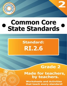 RI.2.6 Second Grade Common Core Bundle - Worksheet, Activi
