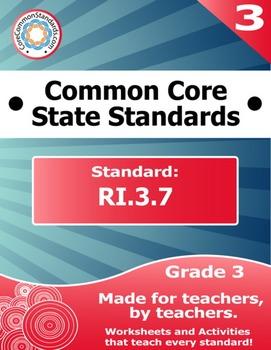 RI.3.7 Third Grade Common Core Bundle - Worksheet, Activit