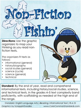 RI.4.10 Fourth Grade Common Core Worksheets, Activity, and Poster